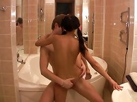 Free Sex Young Couple In Bathroom