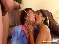 Free Sex Anal Loving Teen And MILF Gives A Hot Rimjob For Our Boss