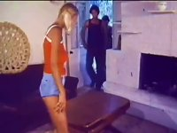 Free Sex Blonde Teen Gets A  And An   - Retro Threesome