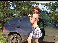 Free Sex Leggy Teen Redhead Pisses Outdoors