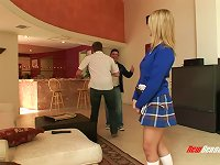 Free Sex Blonde Teen With Natural Tits Fucking A Slightly Older Dude