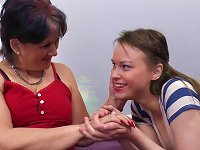 Free Sex Two Hot Old And Young Lesbians Eat Each Other's Pussies