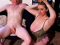 Free Sex Luscious Bosomy Goddess Strokes Erected Cock With Her Hands