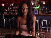 Free Sex Ebony Chick Nia Nacci Wants To Be Fucked In A Bar By A Horny Man