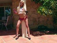 Free Sex Sunny Teen Daina Is  Her Muff Outdoors