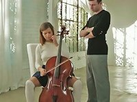 Free Sex Cello Lesson Ending Up With Passionate Sex