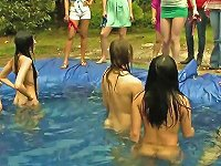 Free Sex Sorority Girls Haze Little Ladies In A Homemade Pool Outdoors