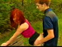Free Sex Sex On A Park  With A Teen Redhead