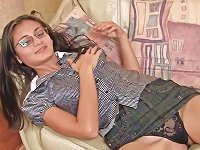 Free Sex Sima Is Touching Her Cute Oiled Puss