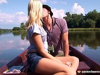 Free Sex During A Boating Trip He Puts His Rod In Her Tight Pussy