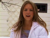 Free Sex Salacious Teen Strips Seductively In An Outdoors Solo Shoot