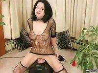 Free Sex Fair Skinned Goddess With Jet Black Hair Riding Sybian