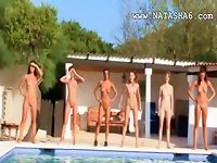 Free Sex Six Naked Teens By The Pool From Russia