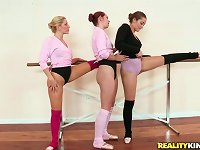 Free Sex Lesbian Ballerina Melody Jordan Goes Wild With Two Horny Gfs