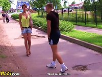 Free Sex Outdoor  Threesome With Beautiful Czech