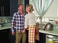 Free Sex Evelin Stone And Blake Morgan Feast On A Cock In A Kitchen