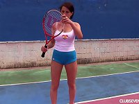 Free Sex Big Naked Tits Are Sexy As She Masturbates On The Tennis Court