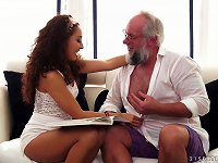 Free Sex Sexy Body And Curly Hair On The Hot Teen Fucking Grandpa